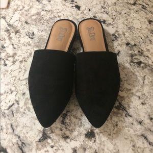 Brash Black Mules Size 9
